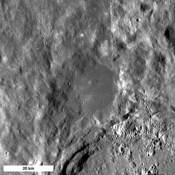 northwest rim of King Crater